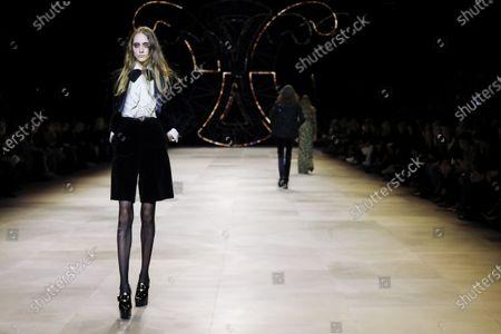 Editorial image of Celine show, Runway, Fall Winter 2020, Paris Fashion Week, Les Invalides, France - 28 Feb 2020