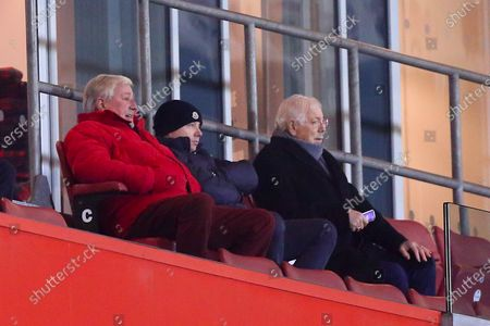 Rotherham United chairman Tony Stewart attends the fixture between Rotherham United and Derby County with guests