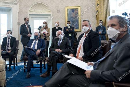 Editorial image of President Biden meets Democratic Senators on American Rescue Plan, Washington, DC, USA - 03 Feb 2021
