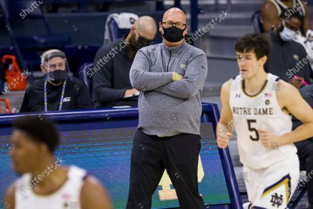 Editorial photo of Wake Forest Notre Dame Basketball, South Bend, United States - 02 Feb 2021