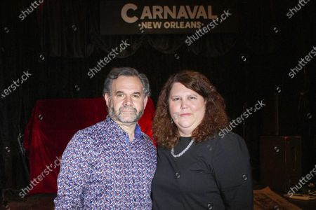 Stock Picture of Jennifer and Matt Johnson pose for a portrait in New Orleans