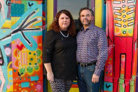 Jennifer and Matt Johnson pose for a portrait in New Orleans