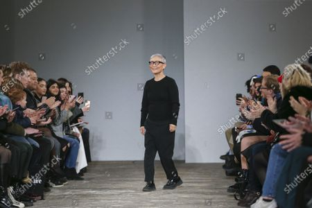 Editorial picture of MOONYOUNGHEE show, Runway, Fall Winter 2020, Paris Fashion Week, Garage Lubeck, France - 26 Feb 2020