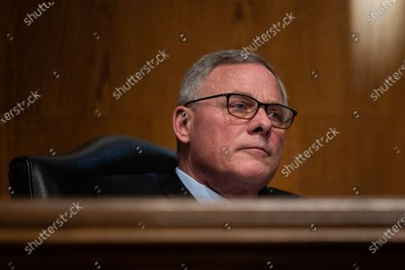 Senate Health, Education, Labor and Pensions Committee Chairman Richard Burr, R-NC  looks on during a Senate Health, Education, Labor and Pensions Committee heating on the nomination Marty Walsh to be Labor secretary, on Capitol Hill in Washington, DC, USA, on 04 February 2021.