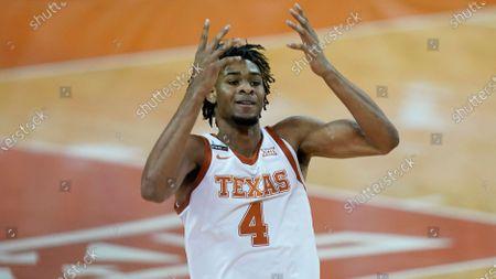 Texas forward Greg Brown (4) during an NCAA college basketball game against Baylor, in Austin, Texas