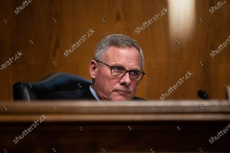 Stock Picture of United States Senate Health, Education, Labor and Pensions Committee Chairman US Senator Richard Burr (Republican of North Carolina) looks on during a Senate Health, Education, Labor and Pensions Committee heating on the nomination Marty Walsh to be Labor secretary, on Capitol Hill,.