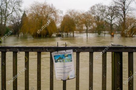 Editorial image of Seasonal weather, Flooding, Sonning, Berkshire, UK - 04 Feb 2021