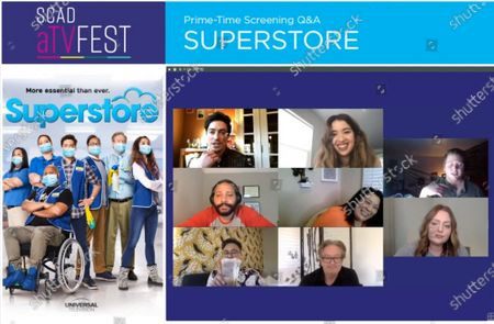 Editorial image of SCAD aTVFest - 'Superstore' panel, USA - 04 Feb 2021