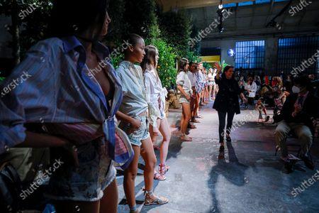 Editorial picture of Etro show, Runway, Spring Summer 2021, Milan Fashion Week, Garage Paullo, Italy - 24 Sep 2020