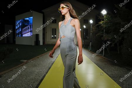 Editorial image of Salvatore Ferragamo show, Runway, Spring Summer 2021, Milan Fashion Week, Italy - 26 Sep 2020
