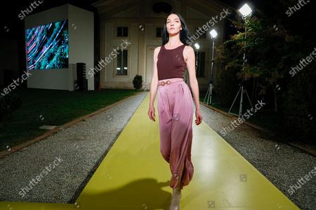 Editorial picture of Salvatore Ferragamo show, Runway, Spring Summer 2021, Milan Fashion Week, Italy - 26 Sep 2020