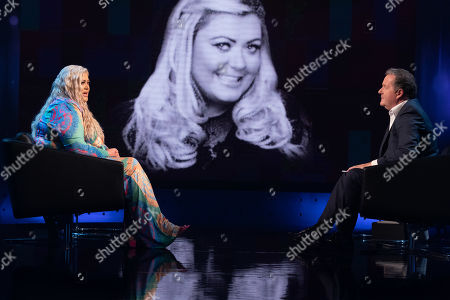 Stock Photo of Piers Morgan and Gemma Collins.
