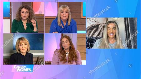 Nadia Sawalha, Linda Robson, Kaye Adams, Stacey Solomon and Katie Price