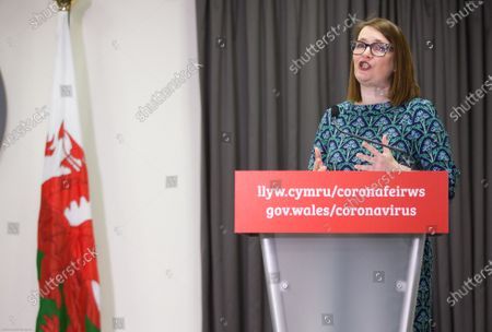 Editorial picture of Welsh Government Coronavirus Briefing, Cardiff, Wales, UK - 05 Feb 2021