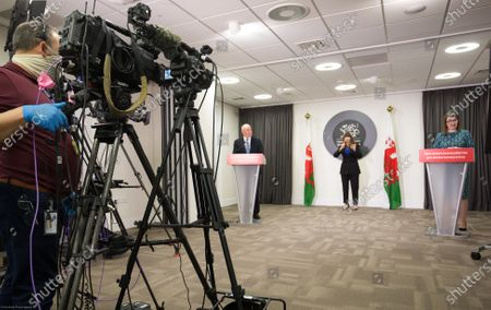 Editorial photo of Welsh Government Coronavirus Briefing, Cardiff, Wales, UK - 05 Feb 2021