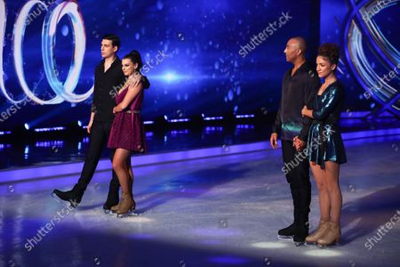 Matt Richardson and Vicky Ogden are voted off after the skate-off with Colin Jackson and Klabera Komini