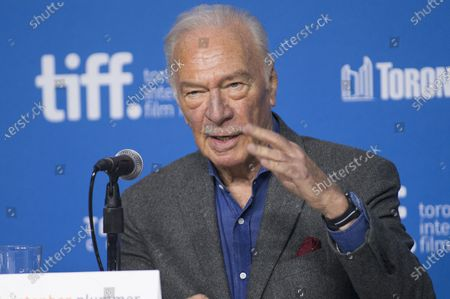 """Actor Christopher Plummer seen at the press conference for """"The Forger"""" during the 2014 Toronto International Film Festival, in Toronto. Plummer, the dashing award-winning actor who played Captain von Trapp in the film """"The Sound of Music"""" and at 82 became the oldest Academy Award winner in history, has died. He was 91. Plummer died Friday morning, Feb. 5, 2021, at his home in Connecticut with his wife, Elaine Taylor, by his side, said Lou Pitt, his longtime friend and manager"""