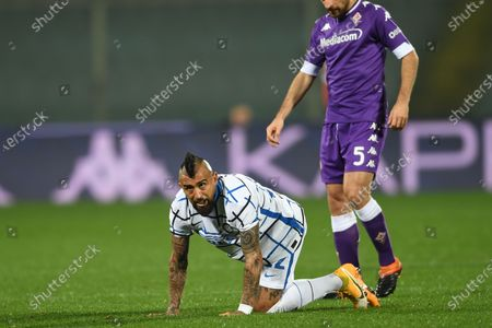"Arturo Vidal (Inter)Giacomo Bonaventura (Fiorentina)           during the Italian ""Serie A"" match between Fiorentina 0-2 Inter  at  Artemio Franchi Stadium in Florence, Italy."