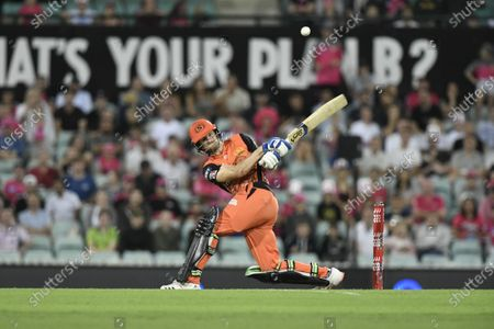 Stock Picture of Cameron Bancroft of the Perth Scorchers batting during play; Sydney Cricket Ground, Sydney, New South Wales, Australia; Big Bash League Cricket, Final, Sydney Sixers versus Perth Scorchers.