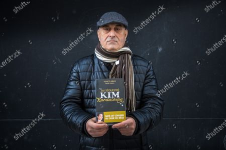 Stock Picture of French Algerian Yunice Abbas, 67, poses for photographs for the release of his book  'J'ai sequestre Kim Kardashian' (I held  Kim Kardashian captive) in Paris, France, 05 February 2021 (issued 06 February 2021). Abbas was a member of the group who held at gunpoint US celebrity Kim Kardashian to steal several millions worth of jewelry from her apartment during the Paris Fashion Week in October 2016.