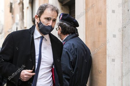 Davide Casaleggio, founding member of the Five Star Movement (M5S), arrives at Montecitorio palace, the seat of the Italian Chamber of Deputies (Lower House), before a meeting with Italian designated prime minister Mario Draghi for the formation of a new government, in Rome, Italy, 06 February 2021. Designated prime minister Draghi is holding consultations with Italian parties for the formation of a new government after the previous coalition collapsed.