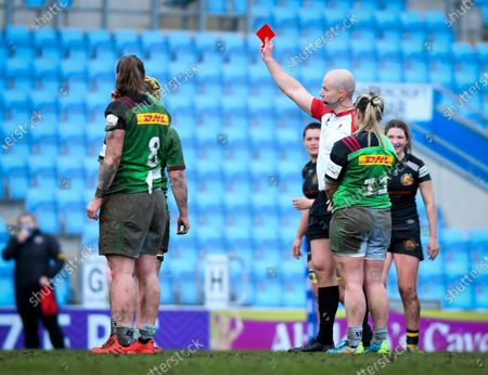 Emily Robinson of Harlequins is sent off