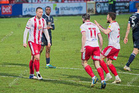 Editorial photo of Stevenage v Morecambe, EFL Sky Bet League 2, 06scores a goal 0-22021 - 06 Feb 2021