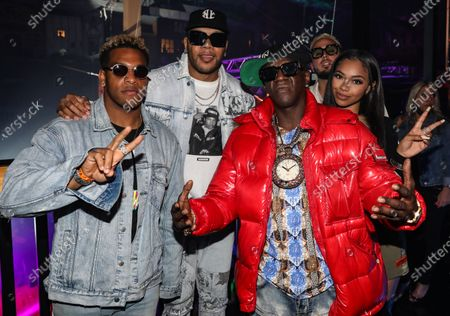 Stock Picture of Nephew, Flo Rida, Flavor Flav, Oya Baby and guest