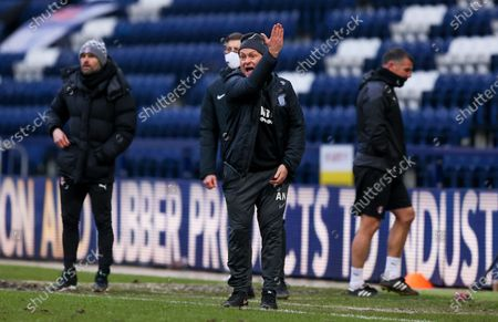 Preston North End Manager Alex Neil  during the EFL Sky Bet Championship match between Preston North End and Rotherham United at Deepdale, Preston