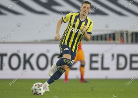 Mesut Oezil of Fenerbahce in aciton during the Turkish Super League soccer match between Fenerbahce and Galatasaray in Istanbul, Turkey, 06 February 2021.
