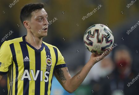Stock Picture of Mesut Oezil of Fenerbahce during the Turkish Super League soccer match between Fenerbahce and Galatasaray in Istanbul, Turkey, 06 February 2021.