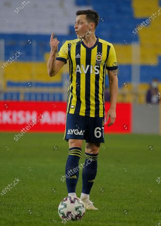 Fenerbahce's Mesut Ozil, of Germany, during a Turkish Super League soccer match between Fenerbahce and Galatasaray in Istanbul, . Ozil, who is of Turkish descent and was formerly with Arsenal came in as a substitute on his first match with Fenerbahce. Galatasaray won the match 1-0