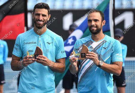 Editorial image of ATP Great Ocean Road Open, Tennis, Melbourne Park, Melbourne, Australia - 07 Feb 2021