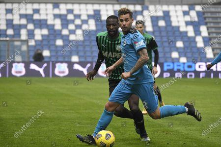 "Matteo Ricci (Spezia)Pedro Obiang (Sassuolo)           during the Italian ""Serie A"" match between Sassuolo 1-2 Spezia  at  Mapei Stadium in Reggio Emilia, Italy."