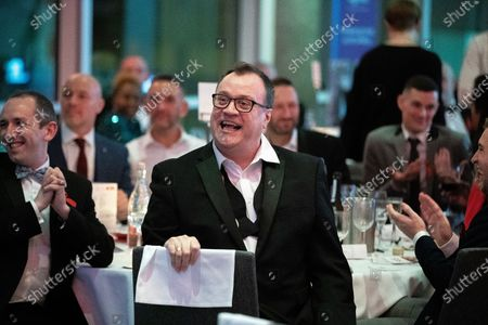 Russell T Davies in the audience. The cast of Russell T Davies ' TV drama It's a Sin attend a George House Trust fundraising gala at the Lowry Hotel in Salford.