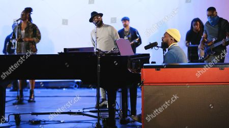 Stock Image of PJ Morton performance with Zacardi Cortez and Darrel Walls