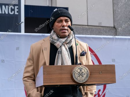 Editorial picture of New York: Opening of mass vaccination site at Yankee Stadium, United States - 05 Feb 2021