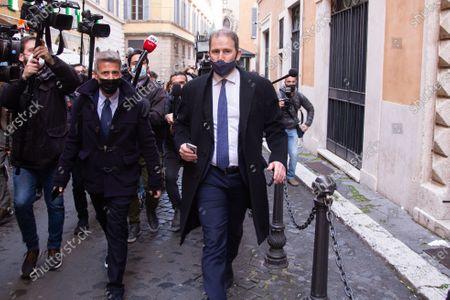 Davide Casaleggio Politicians belonging to the CinqueStelle Movement enter the Palazzo di Montecitorio for the third day of consultations with Mario Draghi.