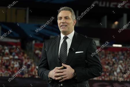 Stock Picture of Hall of Famer Kurt Warner speaks during the NFL Honors ceremony as part of Super Bowl 55, in Tampa, Fla