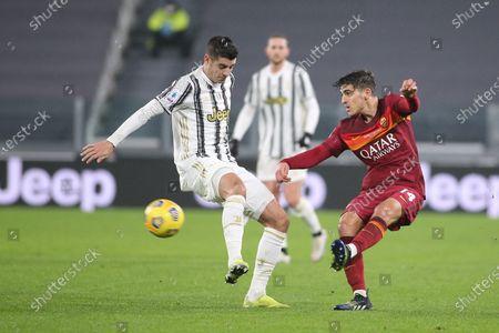 Gonzalo Villar (AS Roma) vs Alvaro Morata (Juventus FC)