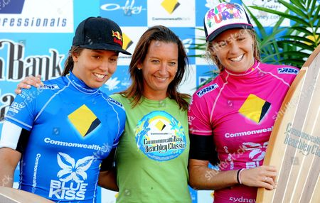 Stock Image of Sally Fitzgibbons, Layne Beachley and Winner Stephanie Gilmore