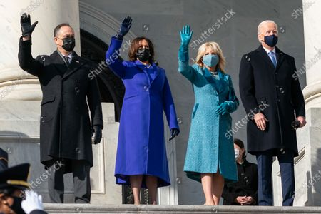 President-elect Joe Biden, Dr. Jill Biden, Vice President-elect Kamala Harris and Mr. Doug Emhoff arrive at the U.S. Capitol in Washington, D.C. Wednesday, Jan. 20, 2021, prior to the 59th Presidential inauguration. (Official White House Photo by Lawrence Jackson)