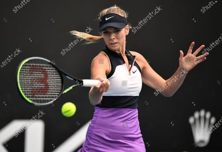Stock Photo of Katie Boulter in action during her first round match