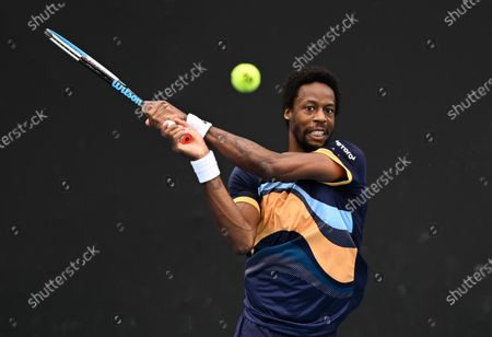 Gael Monfils in action during his first round match