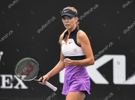 Stock Image of Katie Boulter celebrates during her first round match