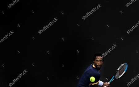 Stock Photo of Gael Monfils in action during his first round match