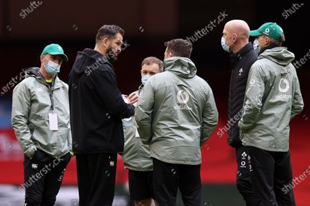 Wales vs Ireland. Ireland Head Coach Andy Farrell with (L to R) Mike Catt, Richie Murphy, Paul O'Connell, Simon Easterby, John Fogarty