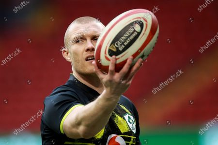 Wales vs Ireland. Ireland's Keith Earls during the warm-up