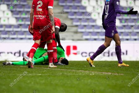 Antwerp's goalkeeper Alireza Beiranvand pictured during a soccer match between Beerschot VA and Royal Antwerp FC, Sunday 07 February 2021 in Antwerp, on day 24 of the 'Jupiler Pro League' first division of the Belgian championship.