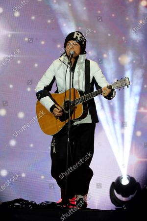 Stock Photo of Italian singer Gianna Nannini performs on stage during the opening ceremony of the FIS Alpine Skiing World Championships in Cortina d'Ampezzo, Italy, 07 February 2021. The 2021 FIS Alpine World Ski Championships will be held in Cortina d'Ampezzo from 7 to 21 February 2021.